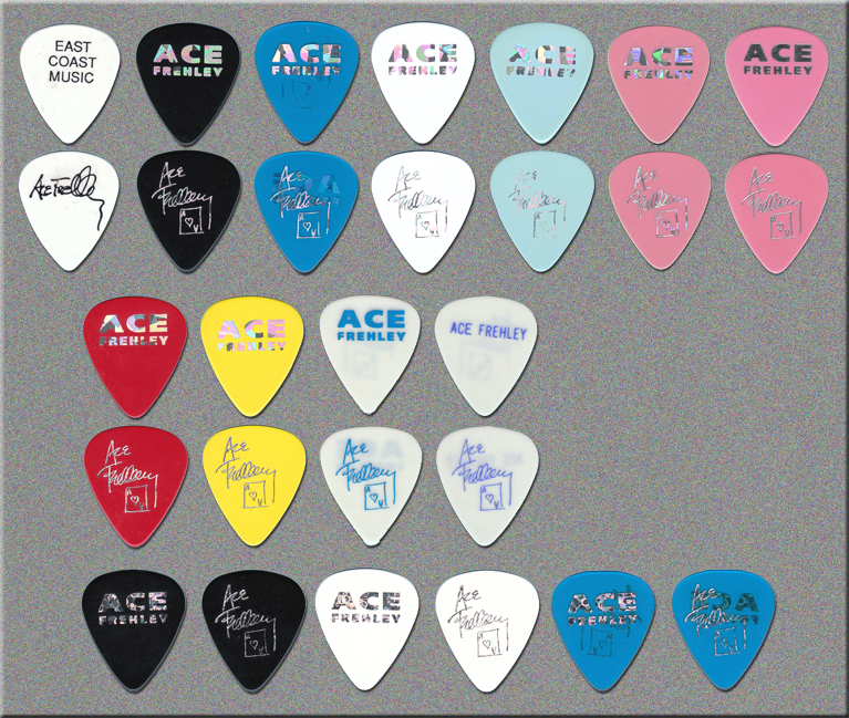 KISS - Ace Frehley - Just For Fun Guitar Picks