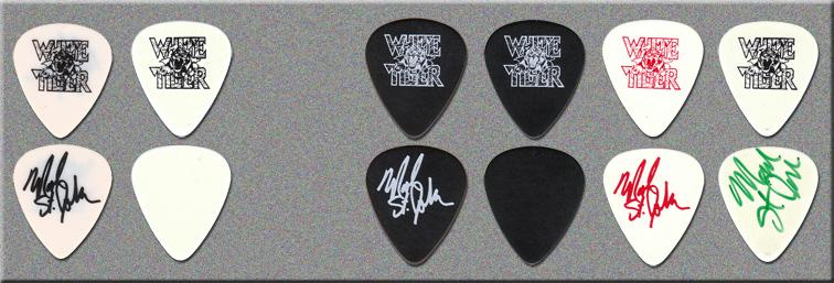 KISS Mark St. John White Tiger Guitar Picks