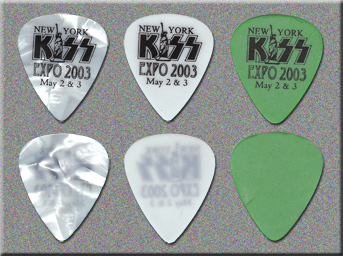 KISS 2003 New York Expo Guitar Picks