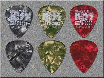 KISS 2008 New York Expo Guitar Picks