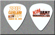 KISS 2010 Cleveland Expo Guitar Pick
