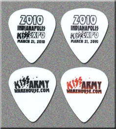 KISS 2010 Indianapolis Expo Guitar Picks