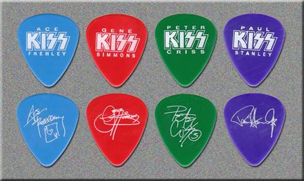 1999 KISS NECA Guitar Picks
