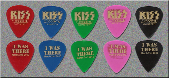 KISS - Fan Made Guitar Picks - O2 Academy in Islington