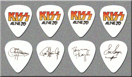 KISS ALIVE 35 TOUR - FAKE GUITAR PICKS