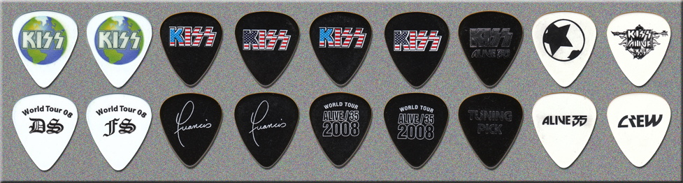 KISS ALIVE 35 Tour Tech Guitar Picks