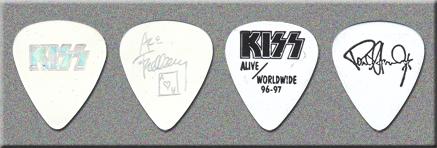 KISS Alive / Worldwide Reunion Rehearsal Guitar Picks