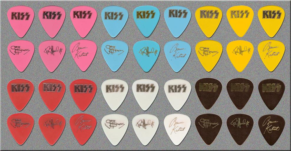 KISS Asylum Tour Guitar Picks