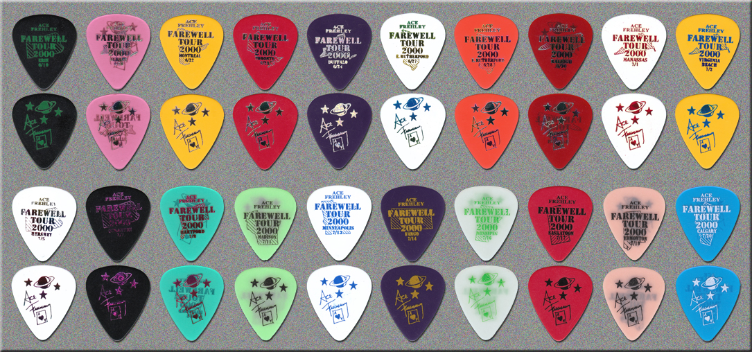 KISS Ace Frehley Farewell Tour City Guitar Picks