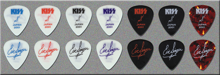 KISS Farewell Tour Pacific Leg Prototype Guitar Picks