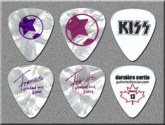 KISS Rock The Nation Tour Tech Guitar Picks