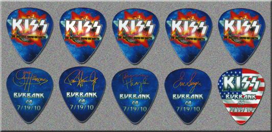 KISS Tonight Show with Jay Leno Guitar Picks